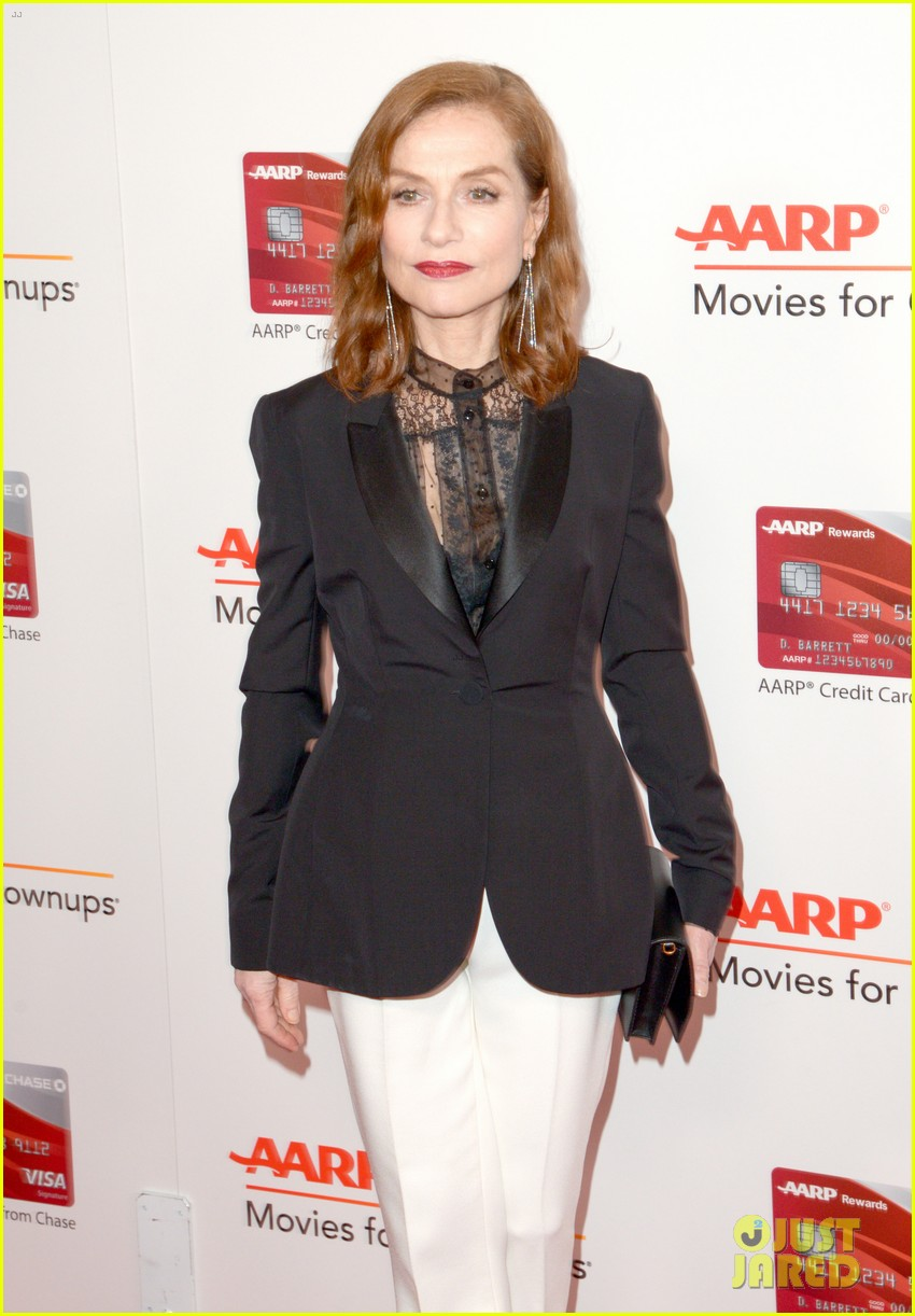 ruth neggas loving isabelle hupperts elle win big at aarps movies for grownups awards 01
