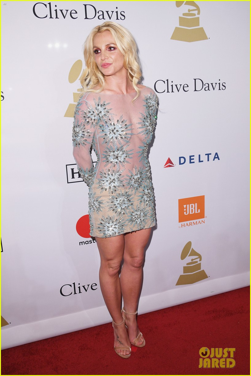 clive davis sparkles in sheer gown at clive davis pre grammy party 023857619