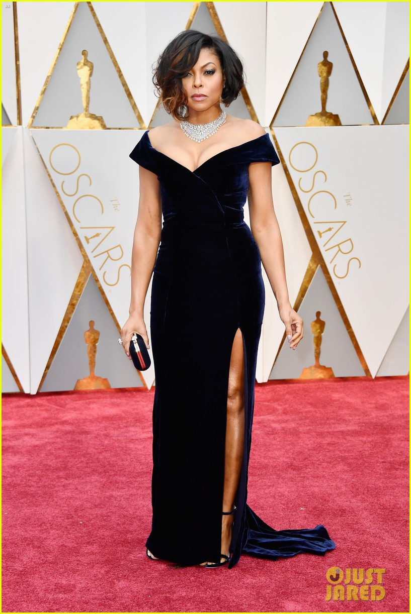 Image Result For Taraji P Henson Gives Serious Face On Oscars Carpet
