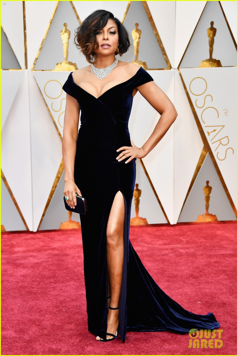 Full Sized Photo Of Taraji P Henson 2017 Oscars Red Carpet