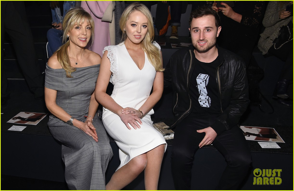 Full Sized Photo of tiffany trump sits front row at nyfw with ...