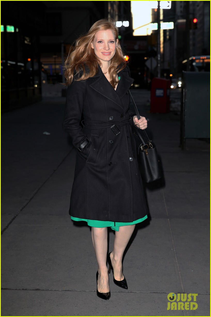 jessica chastain today show green dress 03