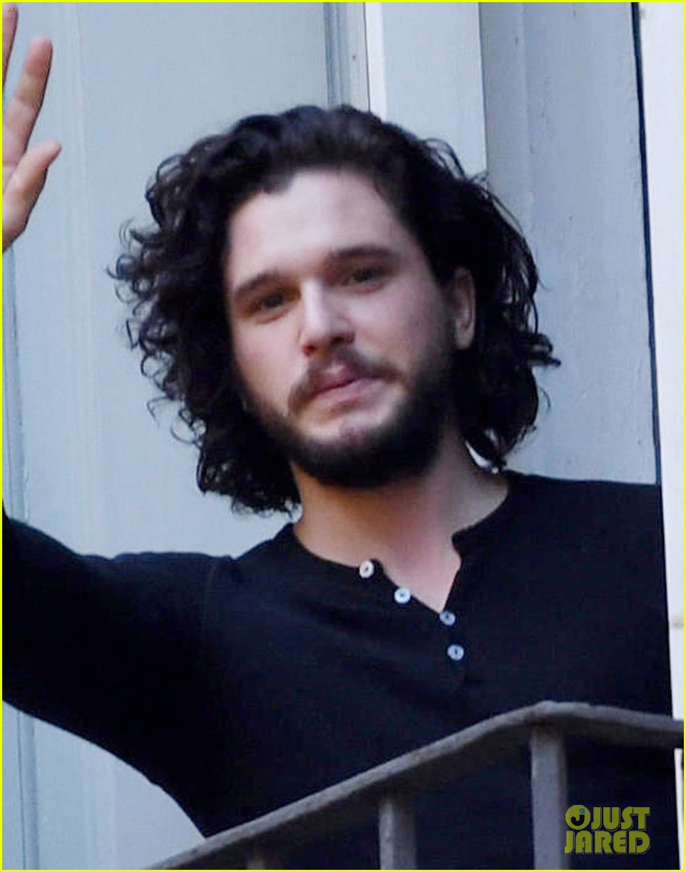 Full Sized Photo of kit harington films a commercial in ...