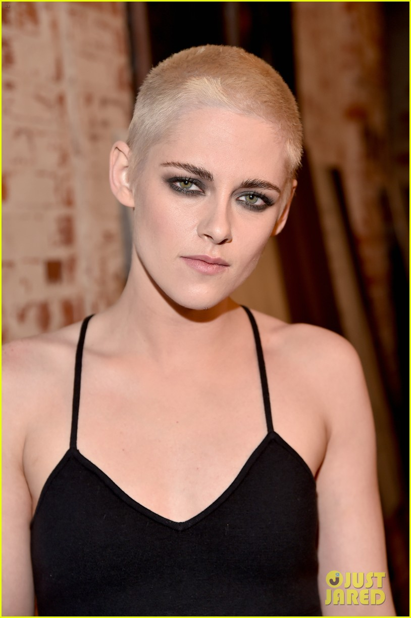 kristen stewart shaves her head bleaches hair blonde 01