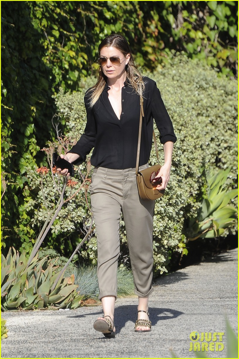 ellen pompeo heads to a meetng in a 013888863