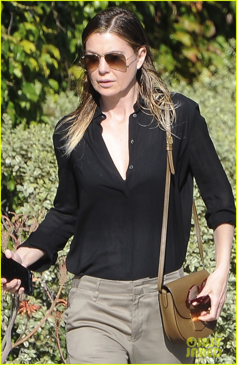 ellen pompeo heads to a meetng in a 043888866