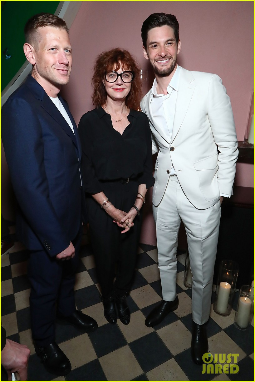 susan sarandon supports son miles robbins at uomo ferragamo 053891190