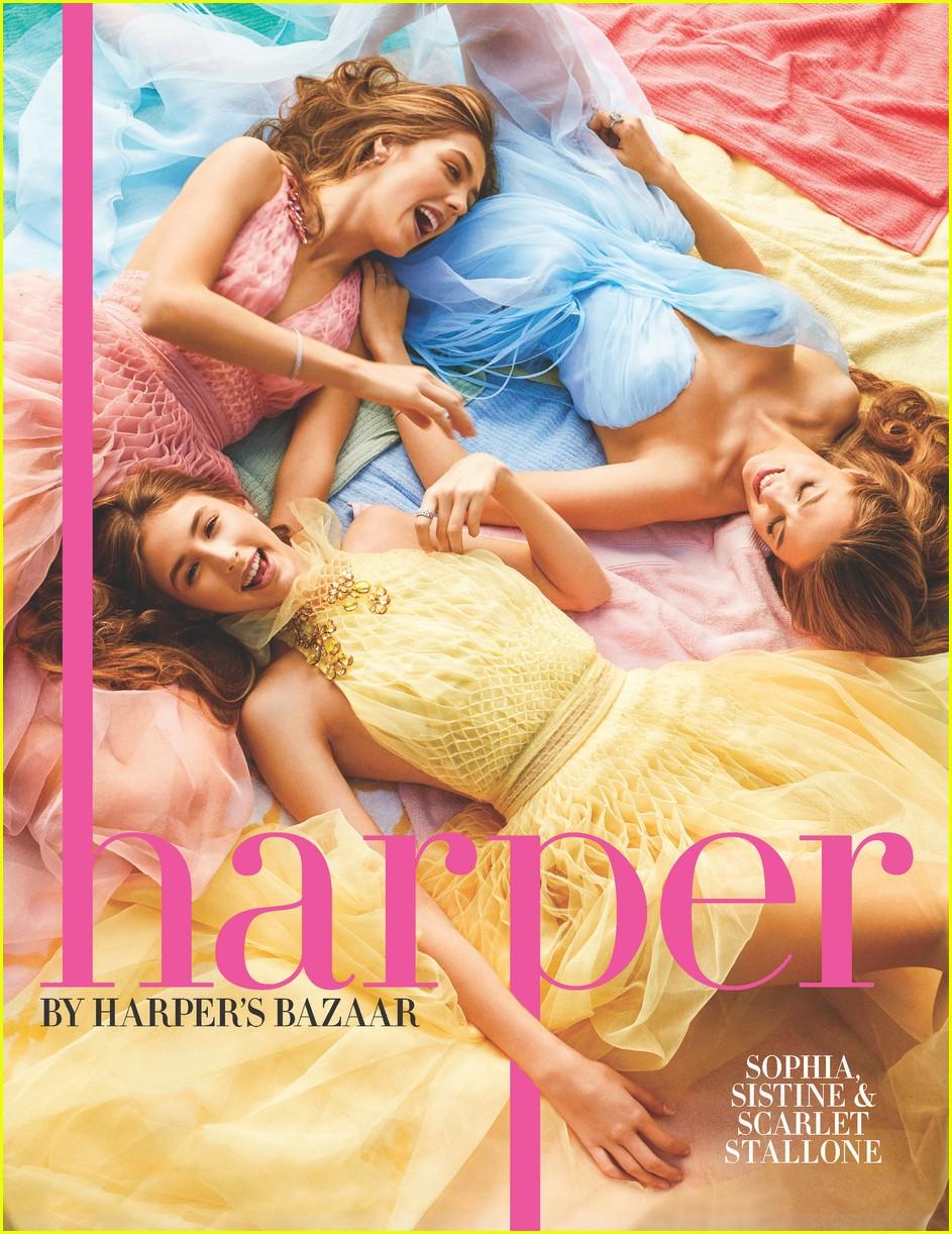 stallone sisters harpers bazaar 013888071
