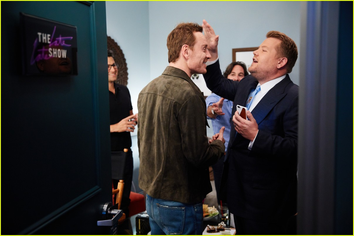 michael fassbender james corden 023901726