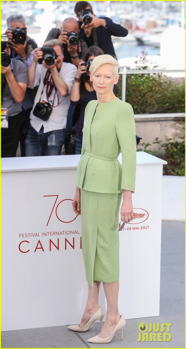 jake gyllenhaal tilda swinton lily collins debut okja at cannes film fest 213901375