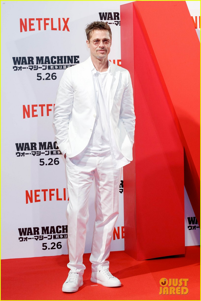 brad pitt says war machine wouldnt have been made without netflix 013903998