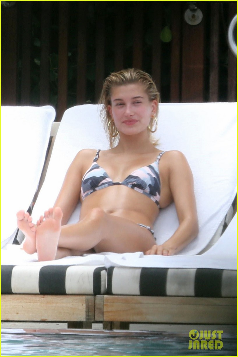 hailey baldwin takes a dip in her camo bikini 053912628