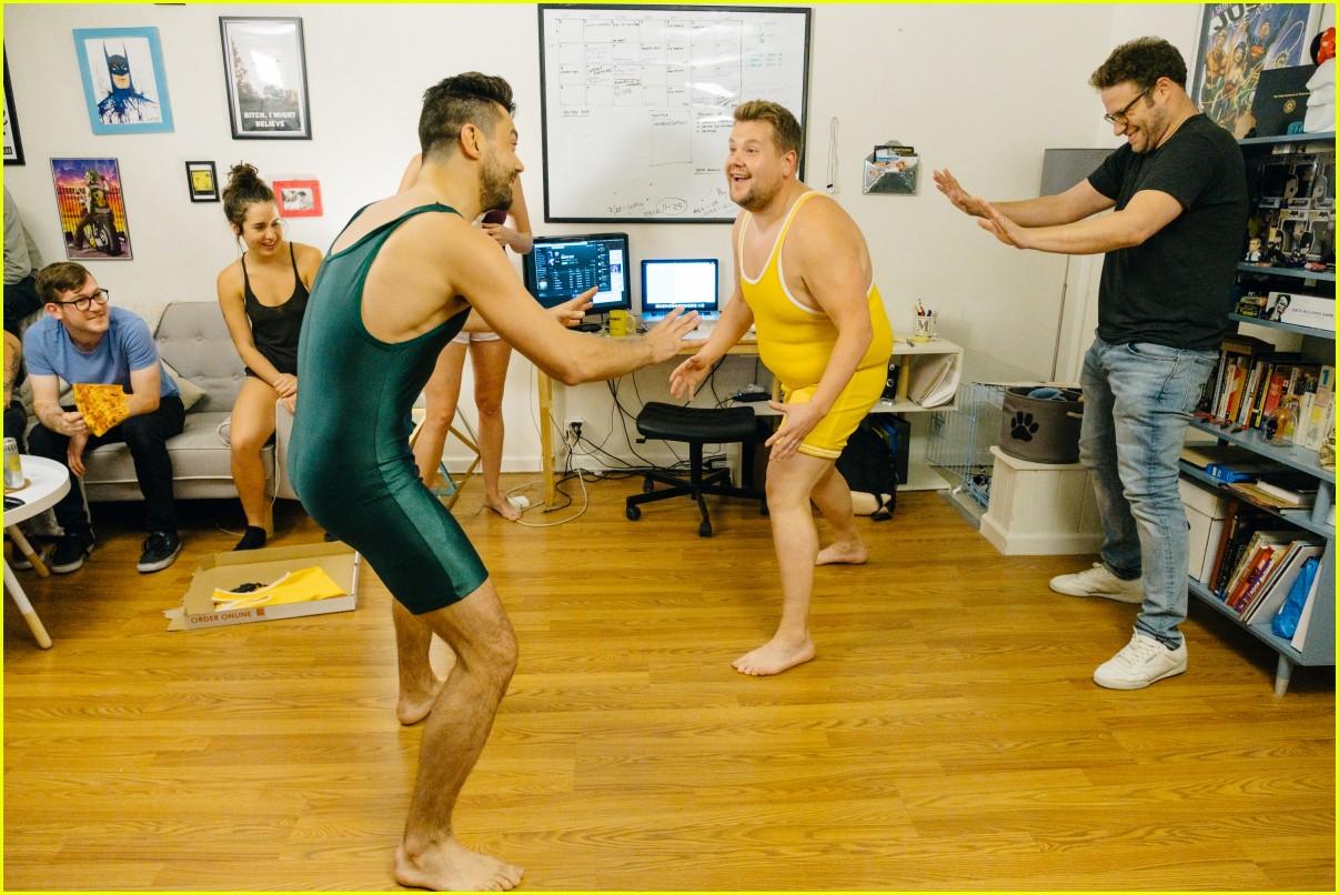 Full Sized Photo Of Dominic Cooper Wrestles James Corden