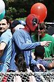 ryan reynolds deadpool flies into a kids birthday party 21