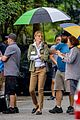 uma thurman stays dry on war with grandpa set see the pics 03