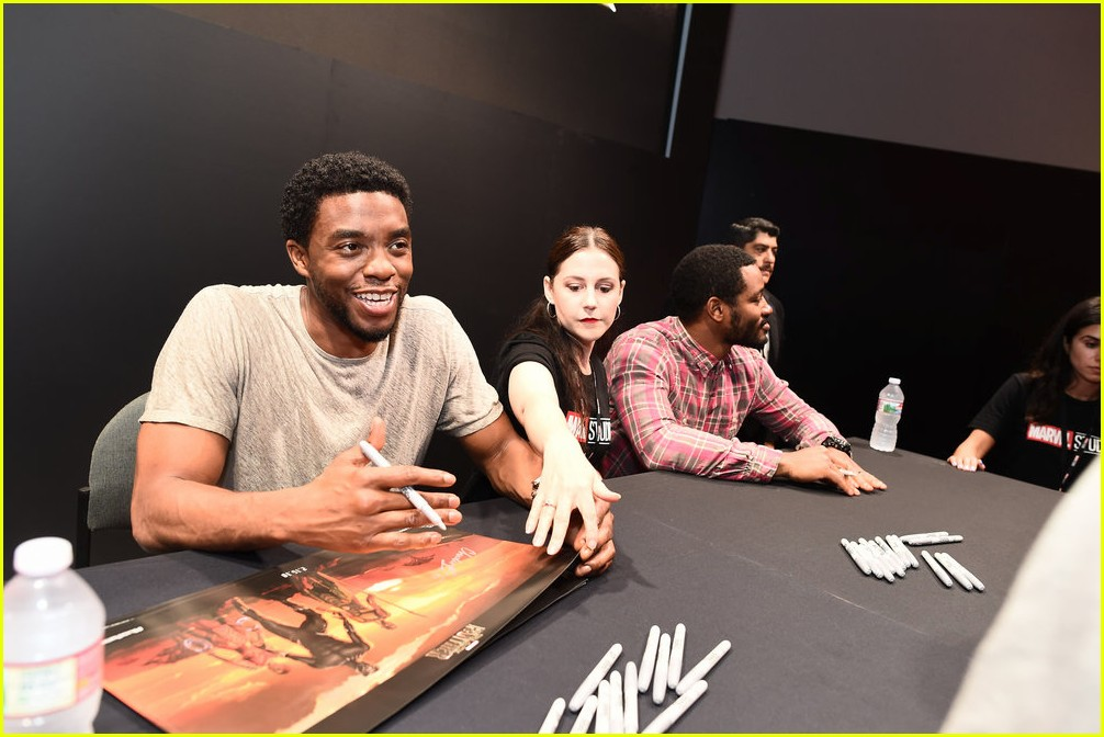 black panthers chadwick boseman meets fans at d23 expo 033928402