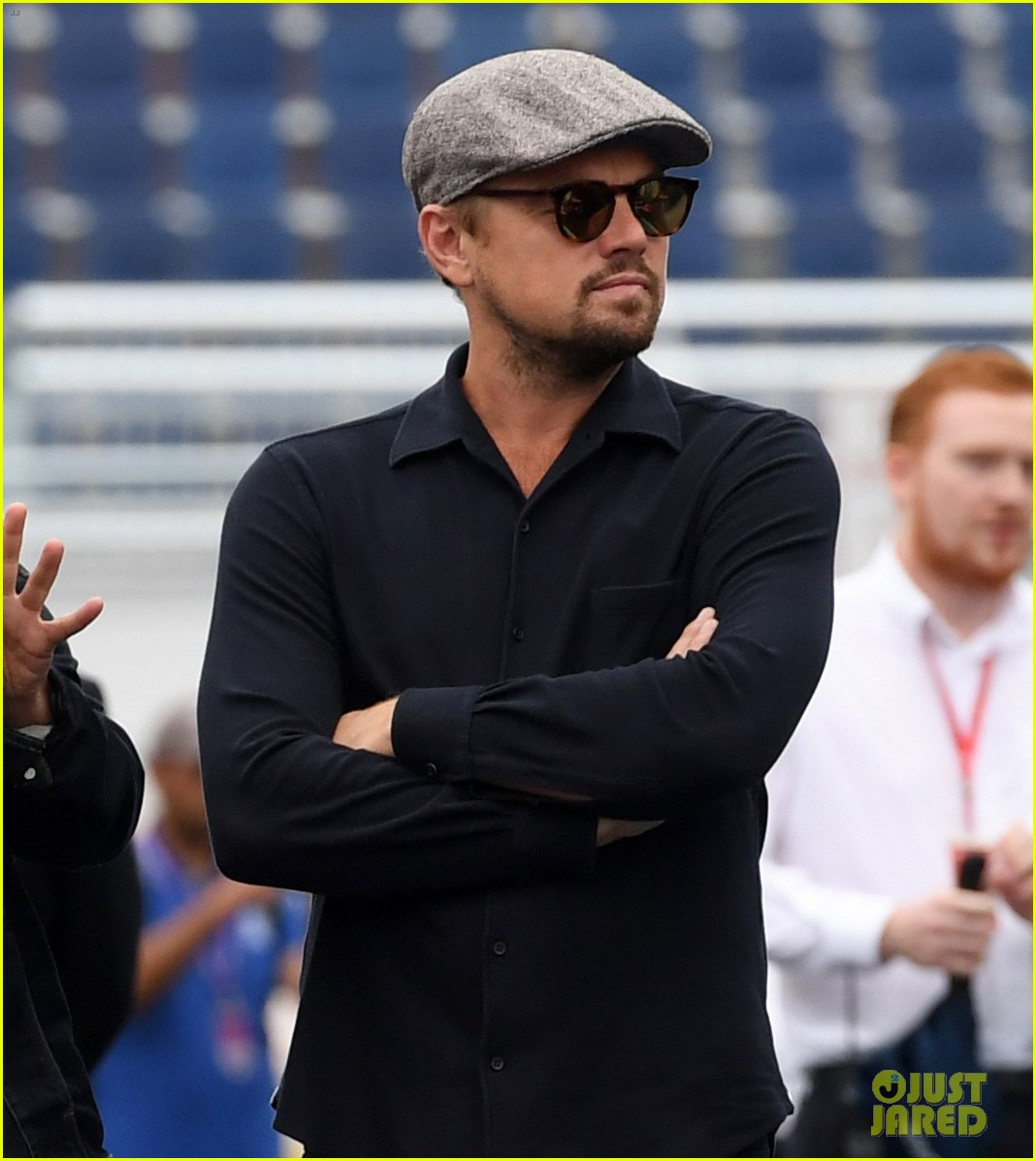 leonardo dicaprio tours garages before formula e nyc eprix 013928474