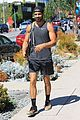 nyle dimarco shows off his buff arms heading to the gym 01