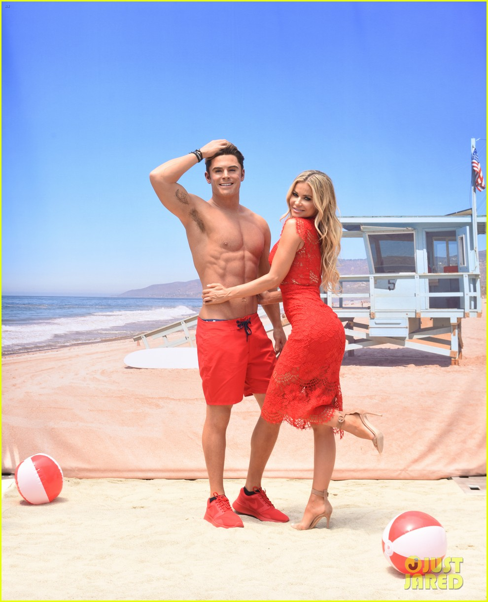 zac efron has a shirtless wax figure it visited the beach 01