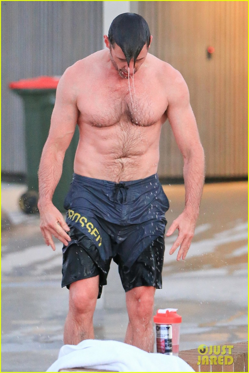 hugh jackman bares his hot body during an outdoor shower 053934390