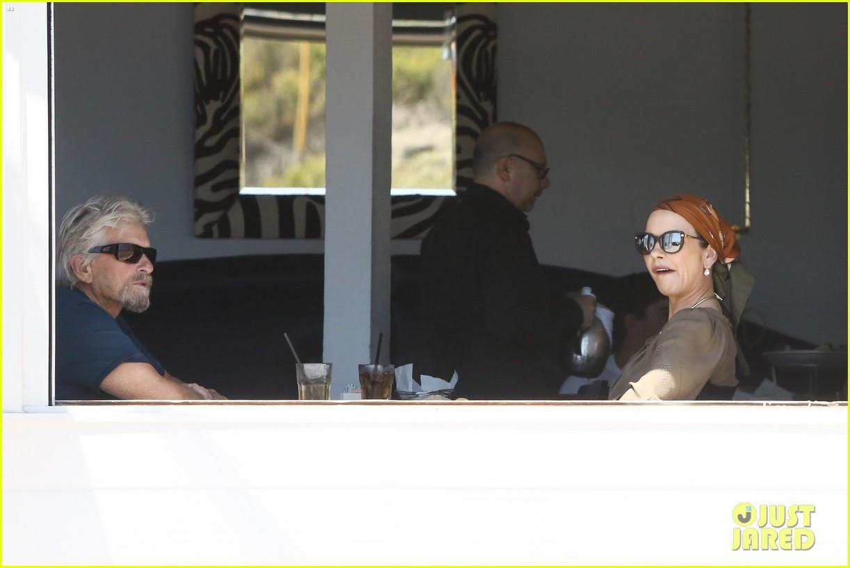 catherine zeta jones and michael douglas couple up for malibu lunch date 033926137