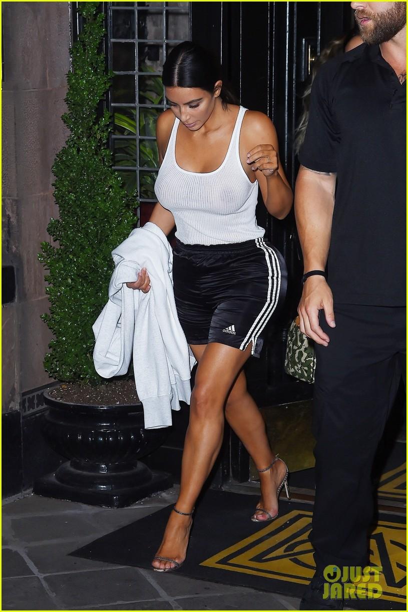 kim kardashian goes braless in see through top 013926547