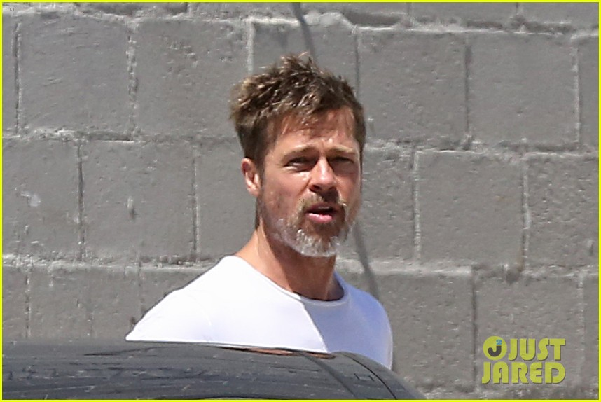 brad pitt shows hes bulking up during july 4th outing 053923958