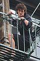 matt smith wears a curly wig on movie set 02