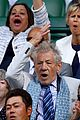 maggie smith ian mckellan get animated at wimbledon 01
