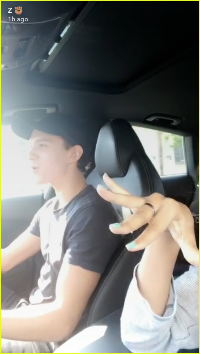 zendaya tom holland car ride photos 013929406