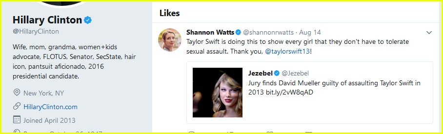 hillary clinton supports taylor swift 01