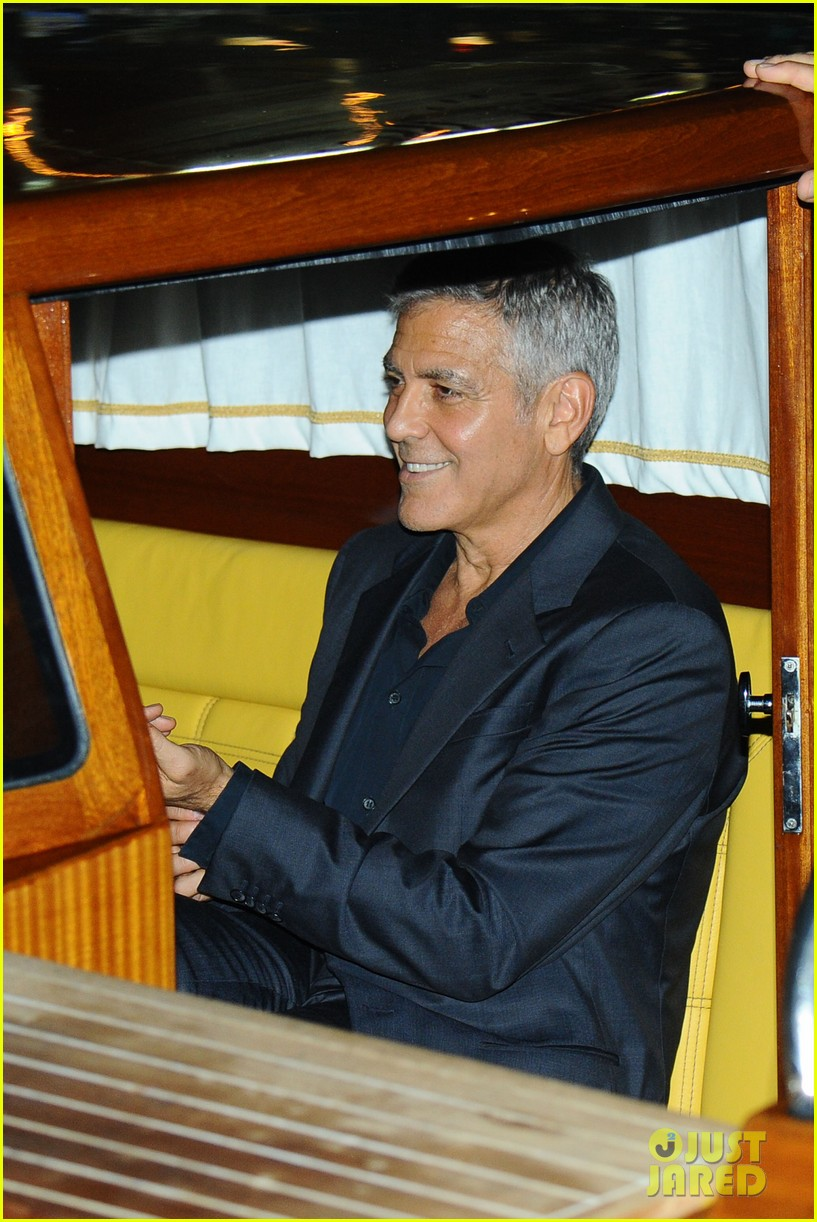 george clooney takes a boat for venice date night with amal 033948778