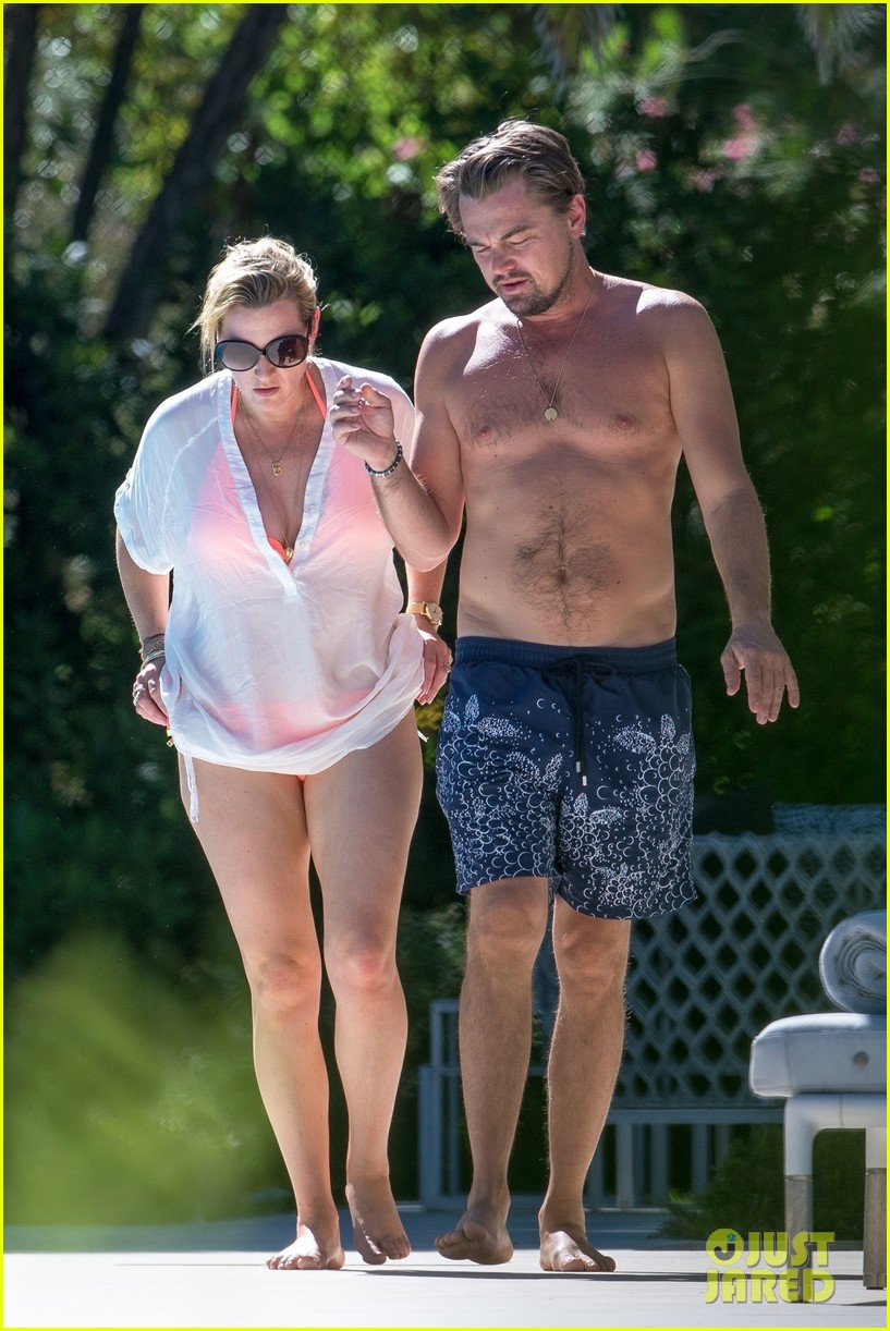 leo dicaprio goes shirtless on vacation with kate winslet 053942791