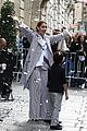 celine dion her twins exit their hotel to a confetti shower 05