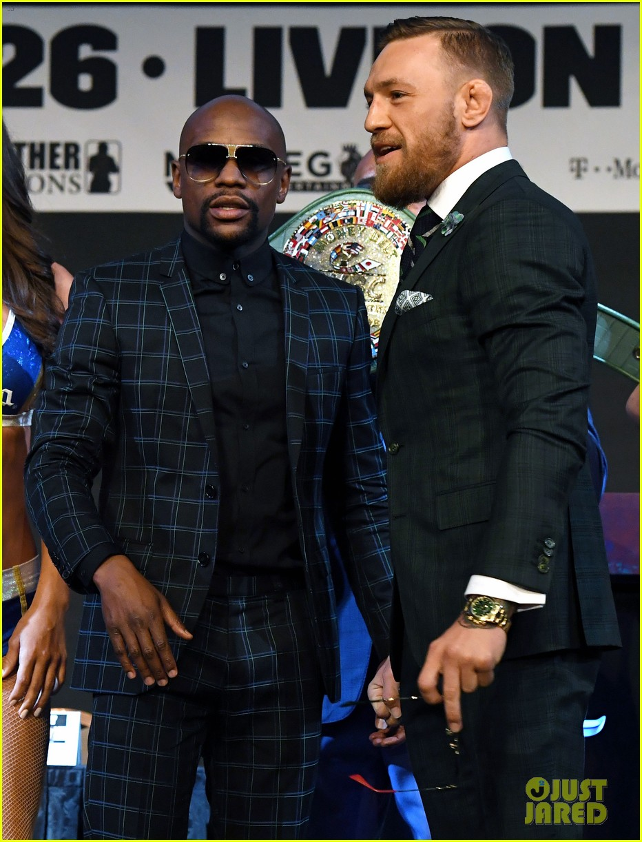 conor mcgregor floyd mayweather jr face off ahead of big match we are more than ready 123945114