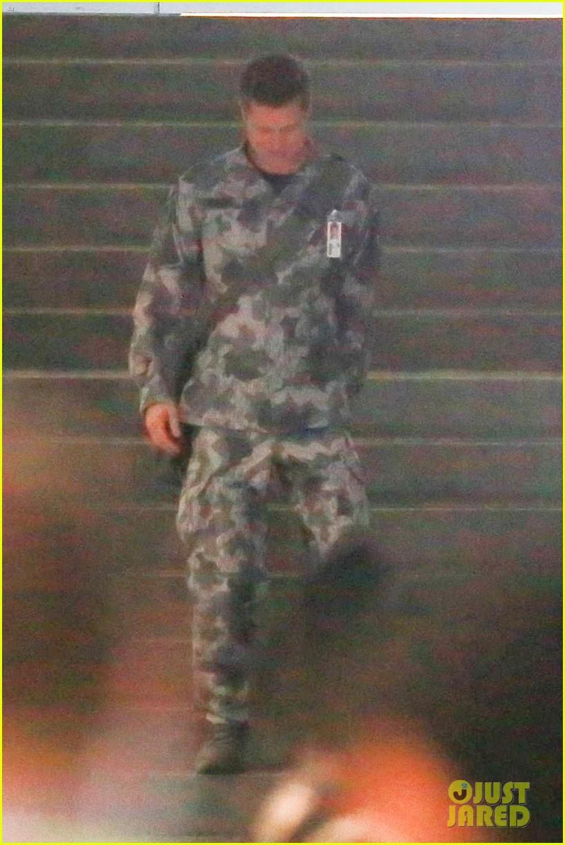 brad pitt dons army uniform for new mvie ad adstra 02