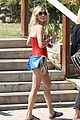 julie bowen dresses as wonder woman paddles in bread bowl canoe 02