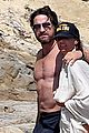 gerard butler shirtless on the beach 05