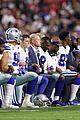 dallas cowboys take a knee during national anthem 01