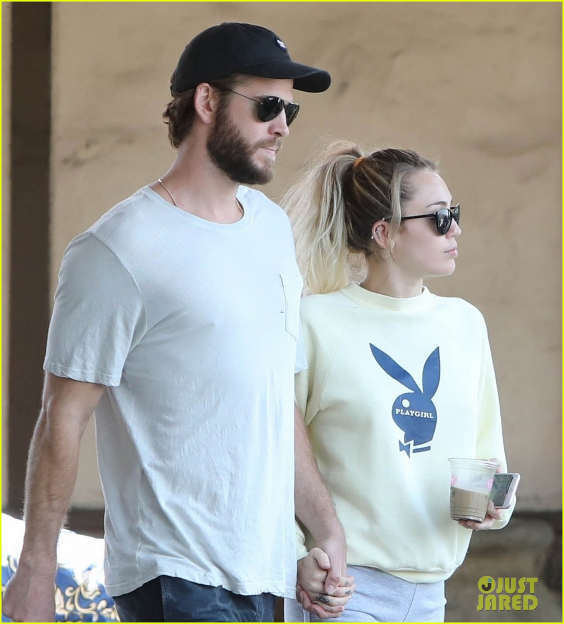 miley cyrus liam hemsworth hold hands for saturday morning date 023949603