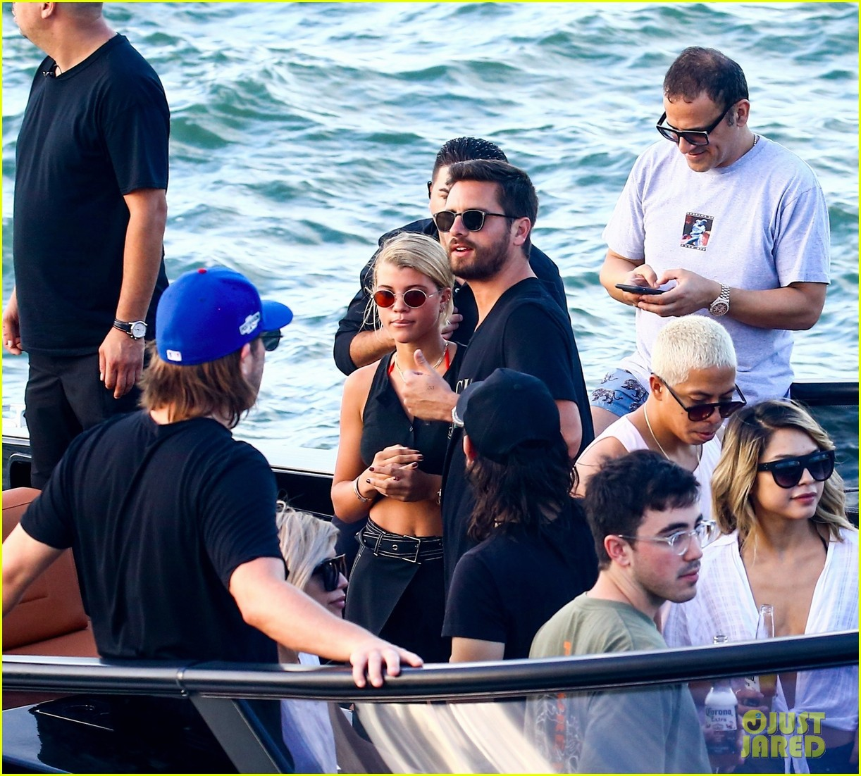 scott disick and sofia richie flaunt pda on a boat with friends2 373963017