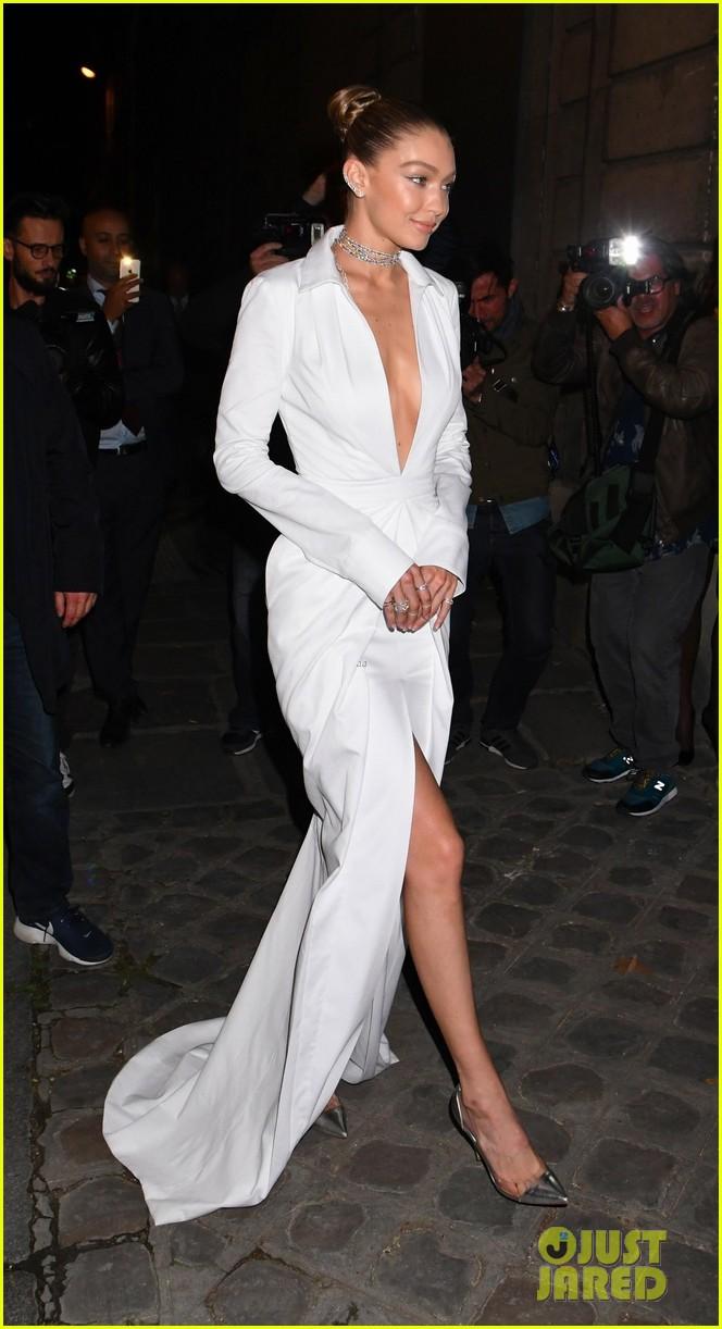 bella hadid and hailey baldwin look chic at paris fashion week dinner 043965423
