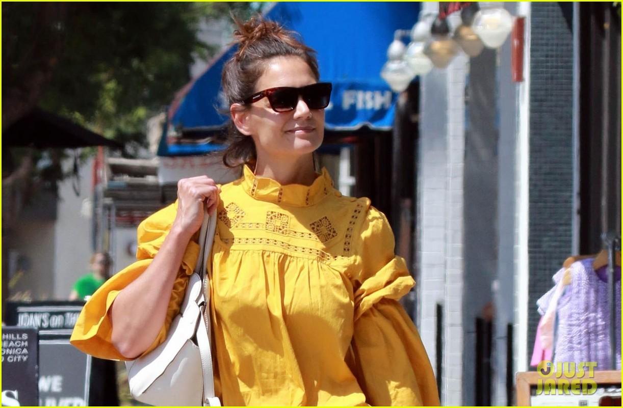 katie holmes yellow blouse studio city 03