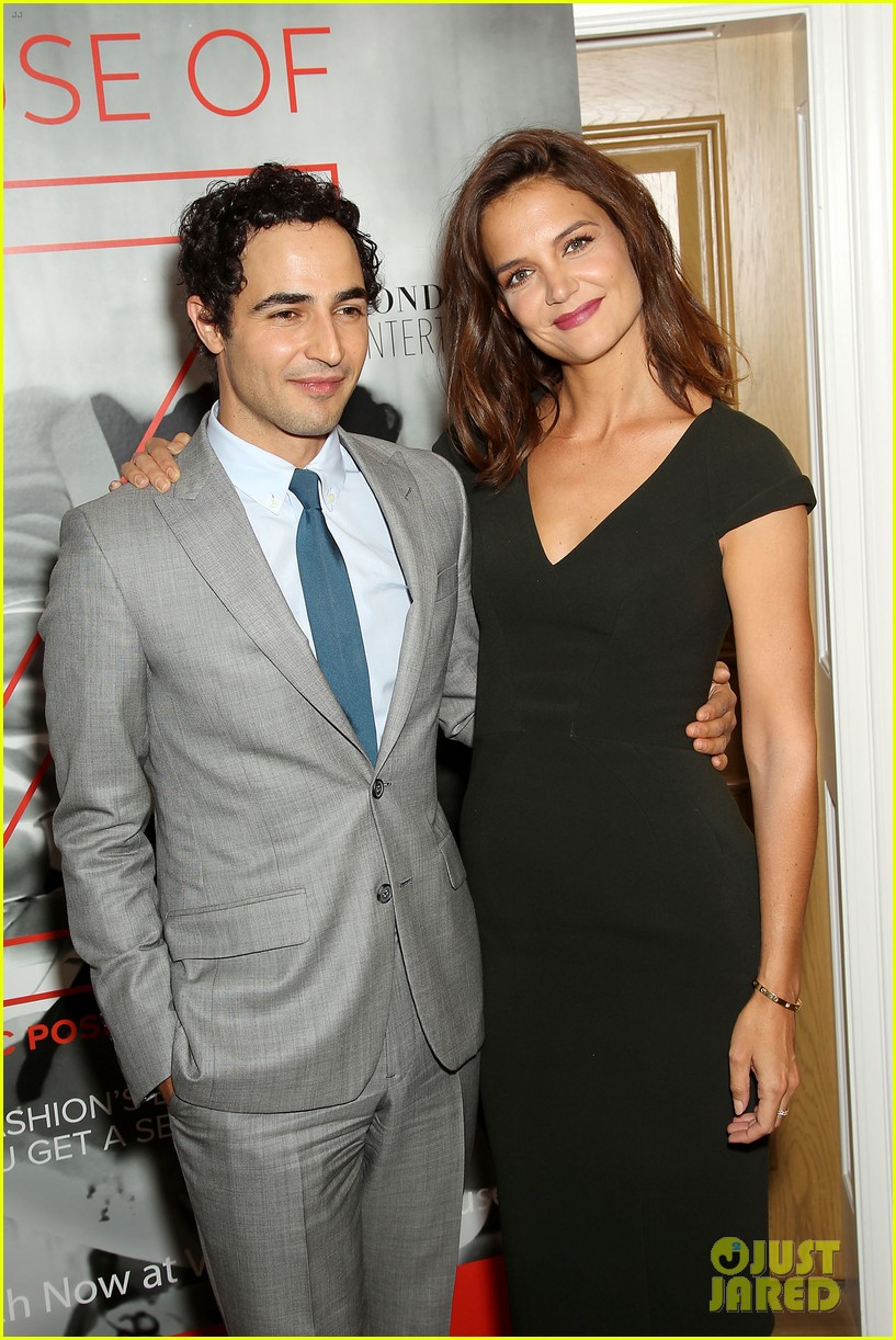 katie holmes supports designer zac posen at house of z premiere 01