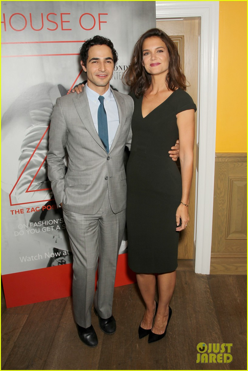 katie holmes supports designer zac posen at house of z premiere 03