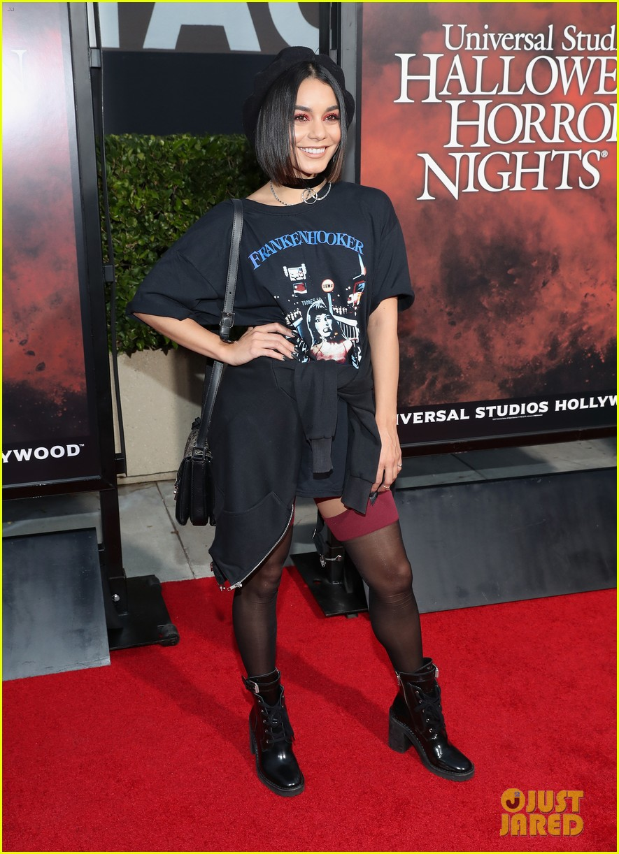 vanessa hudgens goes goth chic at universal studios halloween horror nights 20