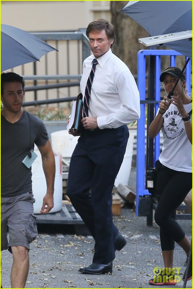 hugh jackman begins filming front runner see first photos of him as senator gary hart 043960607
