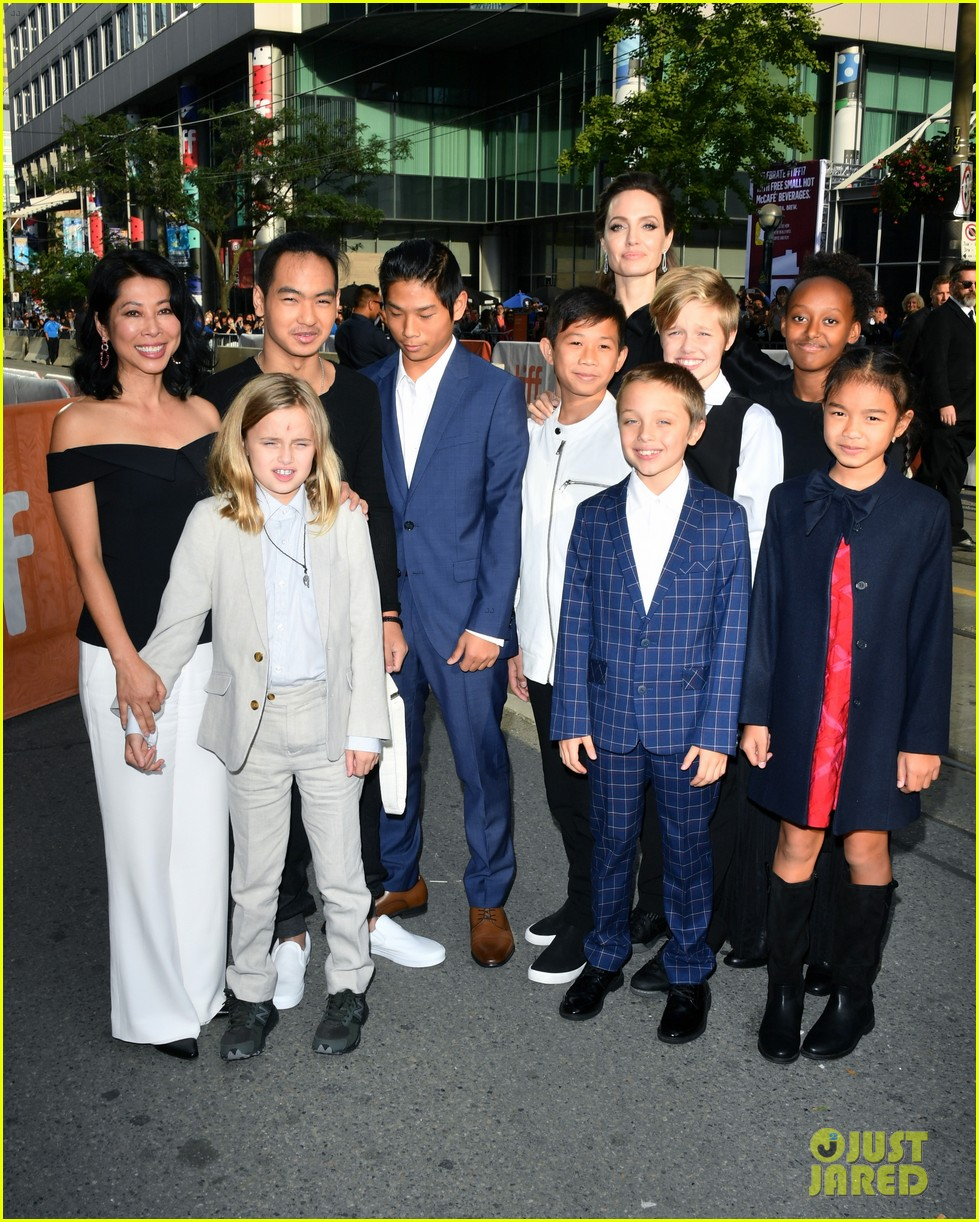 angelina jolies kids join her at first they killed my father tiff premiere 033955231