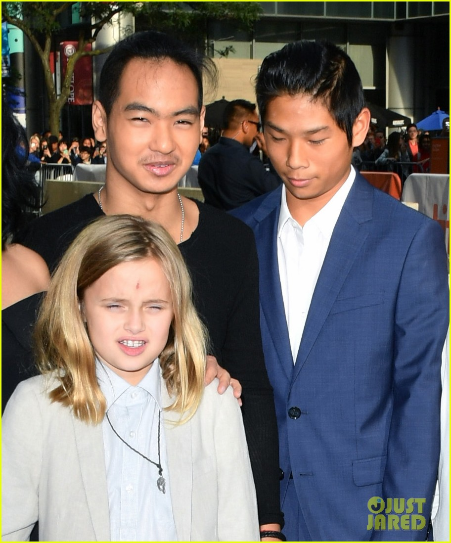angelina jolies kids join her at first they killed my father tiff premiere 07