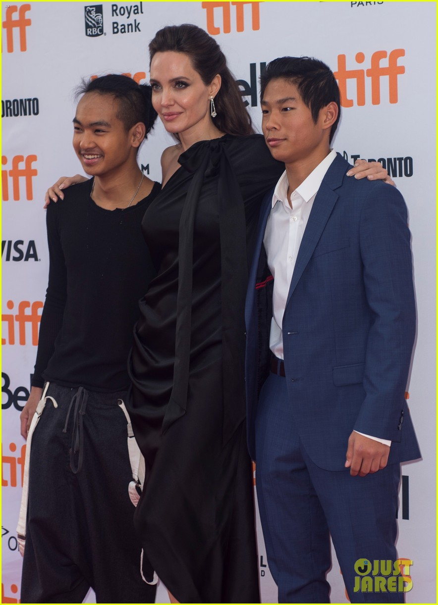 angelina jolies kids join her at first they killed my father tiff premiere 24